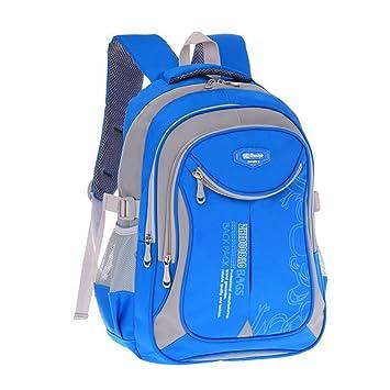 2018 MinegRong hot new niños mochilas escolares para adolescentes varones niñas gran capacidad impermeable mochila escolar mochila kids mochila mochila,azul ...