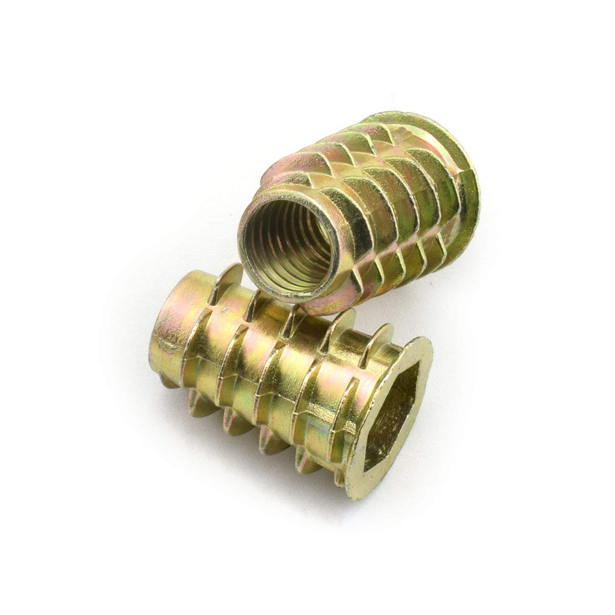 LQ Industrial 30pcs M8x25mm Furniture Screw-in Nut Zinc Alloy Bolt Fastener Connector Hex Socket Drive Threaded Insert Nuts For Wood Furniture Assortment