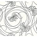 York Wallcoverings Tres Chic Script Floral Wallpaper