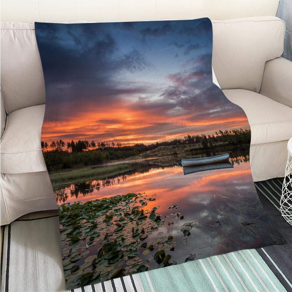 color10 39 x 59in Super Soft Flannel Thicken Blanket Sunrise of Scent Perfect for Couch Sofa or Bed Cool Quilt