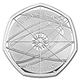 2017 UK Great Britain 50p Silver Proof Sir Isaac Newton Piedfort Silver Brilliant Uncirculated