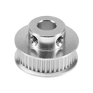 SODIAL aluminio GT2 36 dientes 8mm agujero cronometrando cinturon polea brida rueda sincrona para impresora 3D