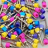100 Pcs Dental Color Nylon latch flat Polishing Polisher Prophy Brushes