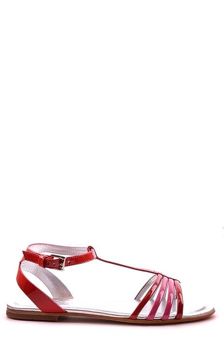 Hogan Sandali Donna Mcbi148201o Pelle Rosso