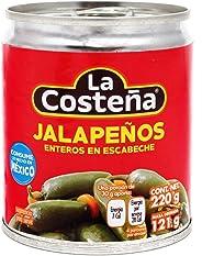 la Costeña, la Costeña Chile Jalapeño Entero, 220 gramos. Paquete de 8