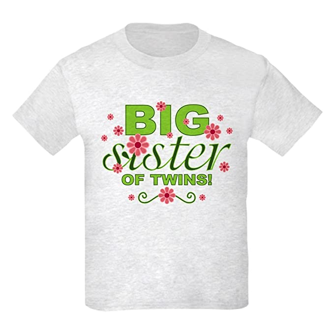 3a362a0e9 Amazon.com  CafePress - Big Sister Of Twins - Kids Cotton T-shirt ...