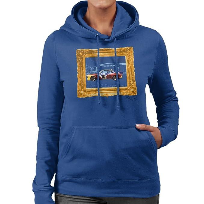 Martyn Goddard Official Photography - BMW Art Car Calder Gold Frame Womens Hooded Sweatshirt