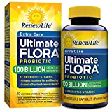 Renew Life - Ultimate Flora Probiotic Extra Care - 100 billion  - 30 vegetable capsules (Packaging May Vary)