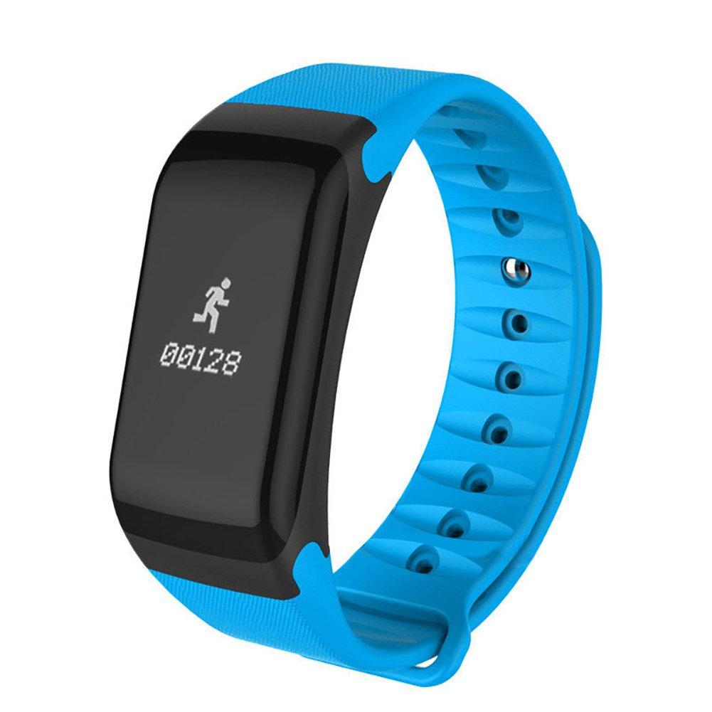 dds5391 OLED Bluetooth Fitnessバンド、血圧酸素ハートレートモニタースマート時計バンド  ブルー B07F8S9B64