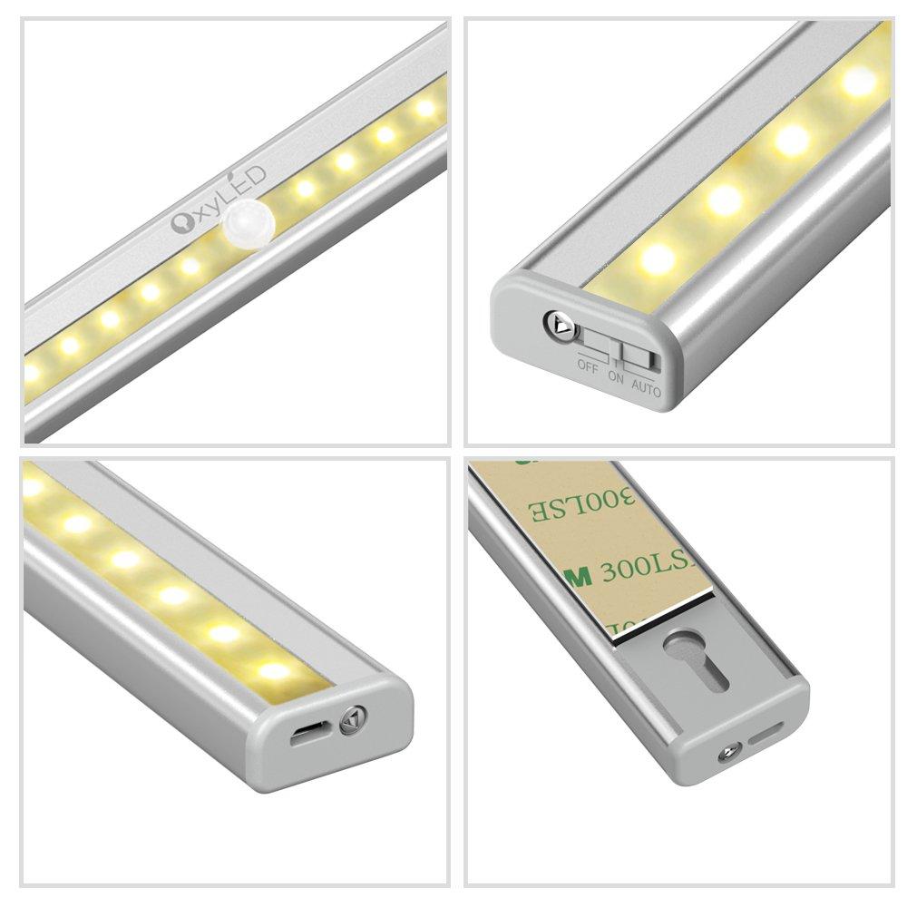 Kitchen Closet Under Cabinet Stick On 18 Led Motion Sensor: OxyLED Motion Sensor Closet Lights Under Cabinet Lighting