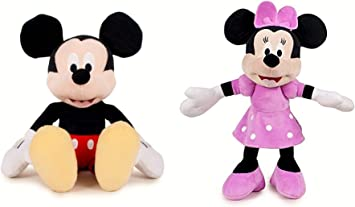 Pack 2 Peluches Mickey y Minnie Mouse Supersoft 30 cms de pie ...