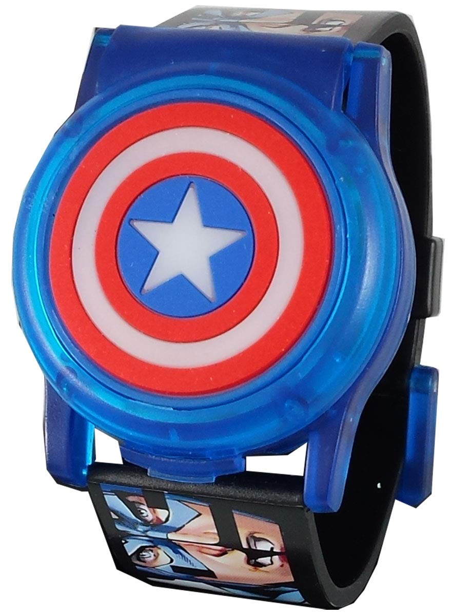 Avengers Captain America Kid's Digital Light Up Watch with Pop-Up Face by Marvel