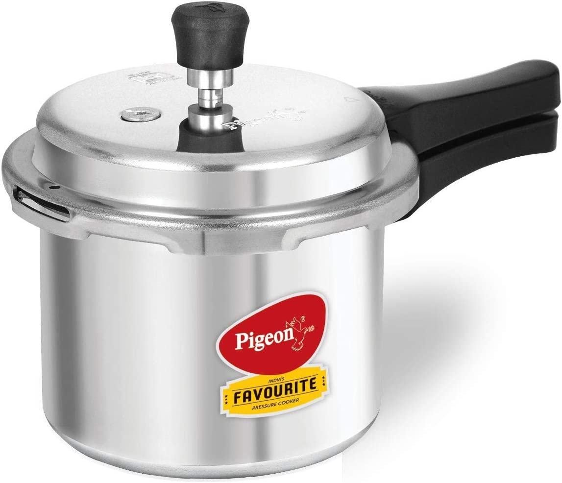 Pigeon Favourite Al Outer Aluminum Pressure Cooker, 3 Litres, Silver