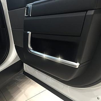 Coche Interior ABS cromado accesorios cubierta de la puerta lateral Moldura Trim: Amazon.es: Coche y moto
