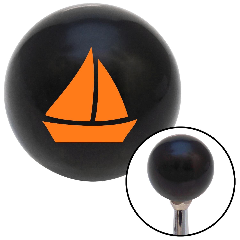 American Shifter 105207 Black Shift Knob with M16 x 1.5 Insert Orange Sail Boat #2