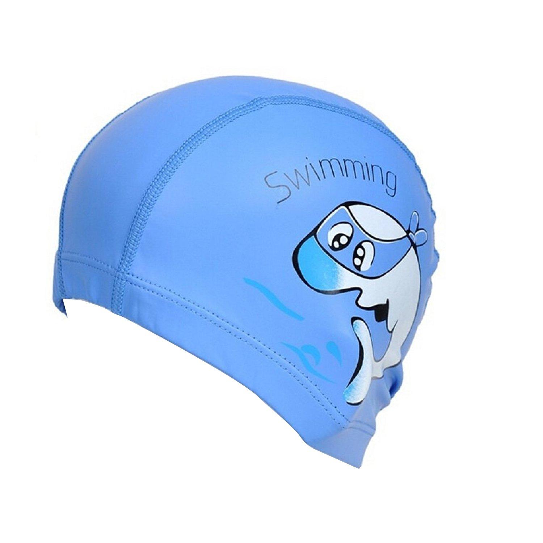 TININNA Gorro de natación de nailon impermeable gorro de baño gorra protección auditiva para bebe niños rosa, plata: Amazon.es: Deportes y aire libre