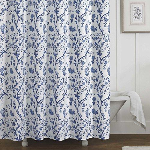 Curtain Cottage Cotton - Laura Ashley Charlotte Shower Curtain Blue