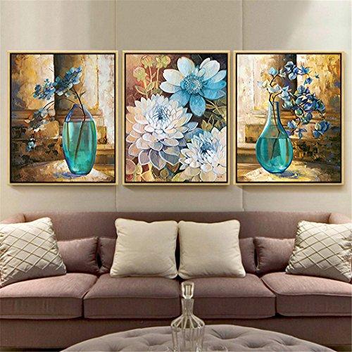 Mazixun 5D Diamond Embroidery Flower Vase DIY Diamond Painting Cross Stitch Diamond Mosaic Bead Picture Decor 60x135cm by Mazixun (Image #3)