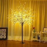 Bolylight LED Cherry Blossom Tree 8ft 600L LED Decoration Lighted Tree for Bedroom/Party/Wedding/Office/Home, Indoor and Outdoor Use Warm White