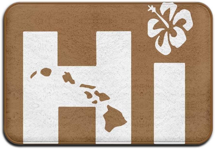 Wdskbg YiNuo Hi Hawaiian Indoor Outdoor Entrance rug Non Slip Floor Mat Doormat Rugs for Home