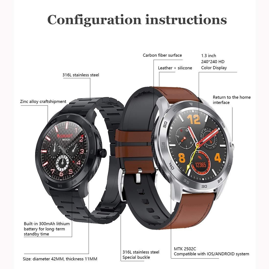 Smart Watches DT98 1,3 pulgadas de pantalla TFT en color de acero ...
