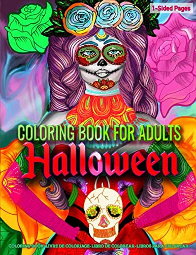 Halloween Coloring Pages Spiders (Coloring Book for Adults | Halloween: Coloring Book for Grown-Ups Featuring Beautiful Fantasy Woman Halloween Art Coloring Page to Help Relieve Stress and Anxiety | Mindfulness Coloring)
