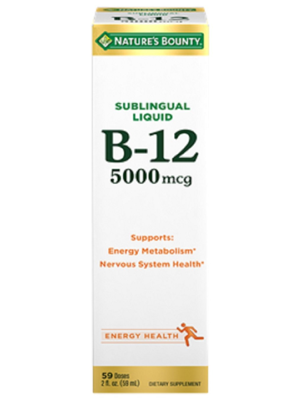 Nature's Bounty, Super Strength B-12, 5000mcg, 2 Oz (Pack of 2) by Nature's Bounty