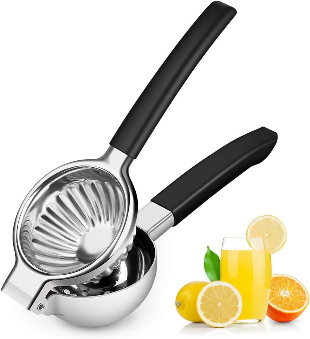 Lemon Squeezer | for Lime and Citrus | Hand Press Juicer Stainless Steel | Premium Quality - with Silicon Handle