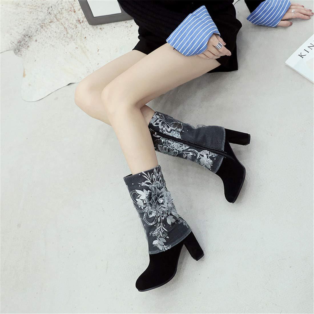 Stiefel & Stiefeletten, Stiefeletten mit Zentralrohr    Wilde Mode Damen Lederstiefel in der Tube  große Damenstiefel 5b99e6