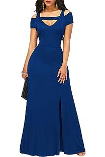 TOUVIE Damen Elegant Langes Abendkleid V-Ausschnitt Ballkleider  Cocktailkleider Gr.36-46 0f42794d46