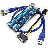 Cabo Riser para Mineração - PCI-Express 1X para 16X - Powered - Versão 006C com 4 Capacitores