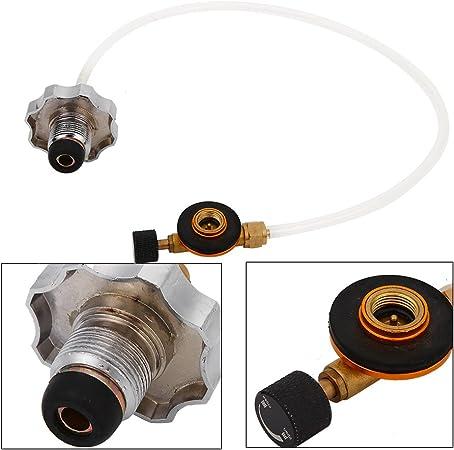 Adaptador de Estufa de Gas para Cámping, Adaptador de Tanque de Propano Convertidora de Recarga de Botella de Gas Conector de Estufa de Gas Licuado de ...