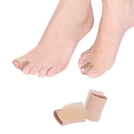 Corrector de juanetes, 4 piezas de dedos de pie con funda de tubo para Hallux