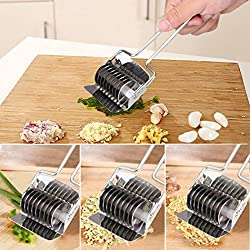 Noodle Lattice Roller Stainless Steel Dough Cutter Mincer - Botrong Pasta Spaghetti Maker, Practical Kitchen Tool Accessories