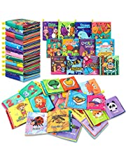 Baby Bath Books,Nontoxic Fabric Soft Baby Cloth Books,Early Education Toys,Waterproof Baby Books for Toddler, Infants Perfect Shower Toys,Kids Bath Toys Best Gift