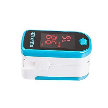 Denshine LED Pulsoximetro De Dedo Portal Oxigeno En Sangre Monitor Spo2(azul): Amazon.es: Salud y cuidado personal