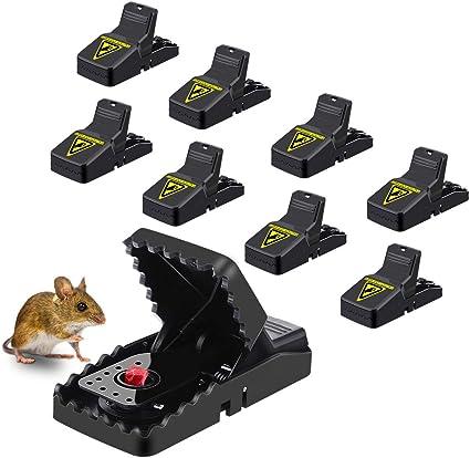 Mohoo 8pcs Piege A Souris Piege A Rat Reutilisable Tapette A Rat Efficace Piege A Souris Piege A Rats Avec Puissant Et Sensible Controle Faciles A Utiliser Amazon Fr Bricolage