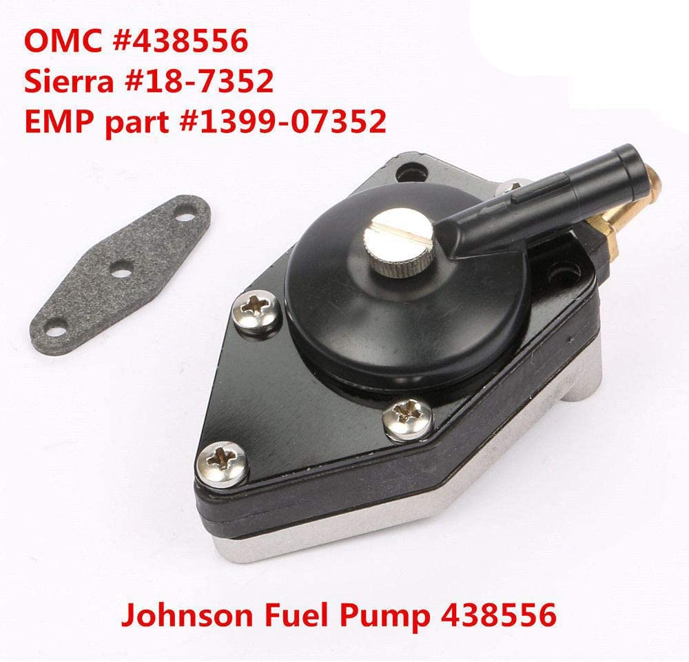 Outboard Fuel Pump with Gasket fits For Johnson Evinrude Outboard 438556 20-140 hp 48//90//115 18-7352