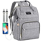 : Large Diaper Bag Backpack, Mokaloo Anti-Water Maternity Nappy Bags Changing Bags with Insulated Pockets and Stroller Straps, Multi-functional Travel Back Pack Built-in USB Charging Port