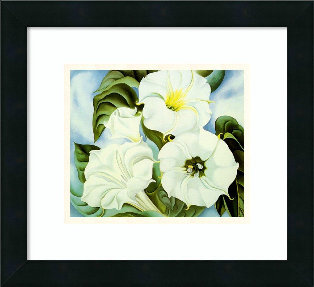 アートフレーム印刷' Jimson Weed ' byジョージアオキーフ Size: 16 x 15 (Approx), Matted ホワイト 3800444 Size: 16 x 15 (Approx), Matted Mezzanotte Black,mat:smooth Bright White B01L8K9KHY