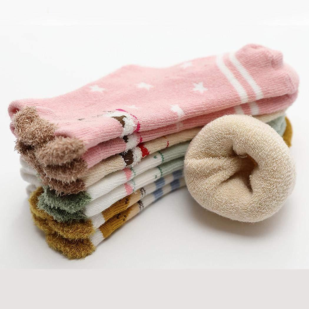 pyouhe Calcetines antideslizantes para beb/és Calcetines de oto/ño e invierno C/álidos ni/ños Ni/ñas Accesorios de ropa Calcetines