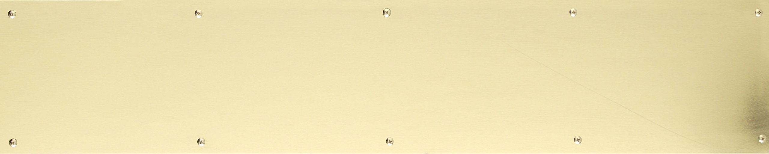 BRASS Accents A09-P0840-PVD Kick Plate Screw Mount, 8'' x 40'', Lifetime Polished Brass