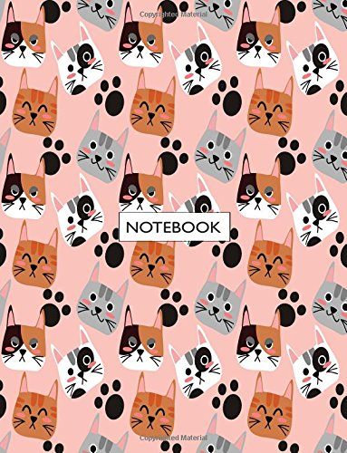 notebook-cute-cat-on-pink-cover-and-lined-pages-extra-large-8-5-x-11-inches-110-pages-white-paper-cute-cat-on-pink-notebook-volume-1