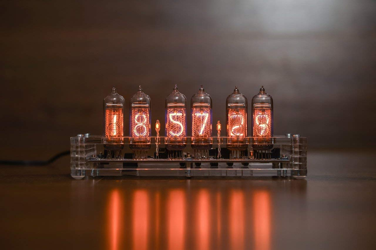 Nixie Tube Clock 6X IN-14 Replaceable Nixie Tubes: Elegant Acrilyc Design