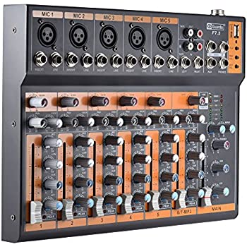 ammoon mic line audio mixer mixing console eq usb interface 48v phantom power with. Black Bedroom Furniture Sets. Home Design Ideas