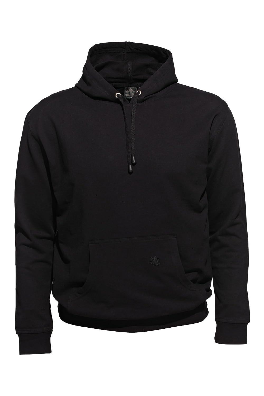 Ahorn Sportswear Übergrößen     Basic Kapuzen Sweatshirt Schwarz 3XL-10XL