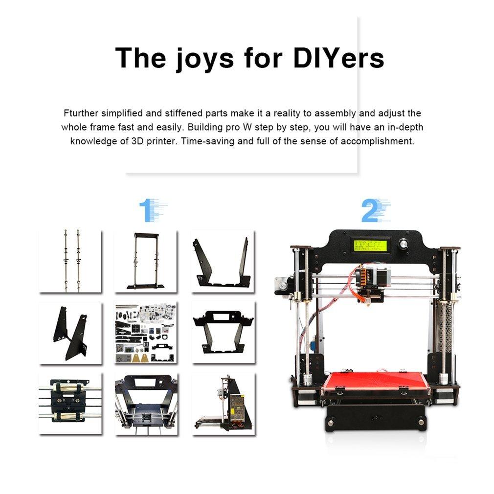 Geeetech Impresora 3D, Madera Prusa i3 Pro W Kit de Bricolaje ...