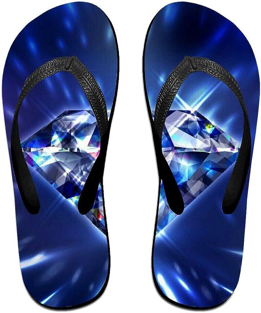 Couple Slipper Diamond Blink Print Flip Flops Unisex Chic Sandals Rubber Non-Slip Spa Thong Slippers