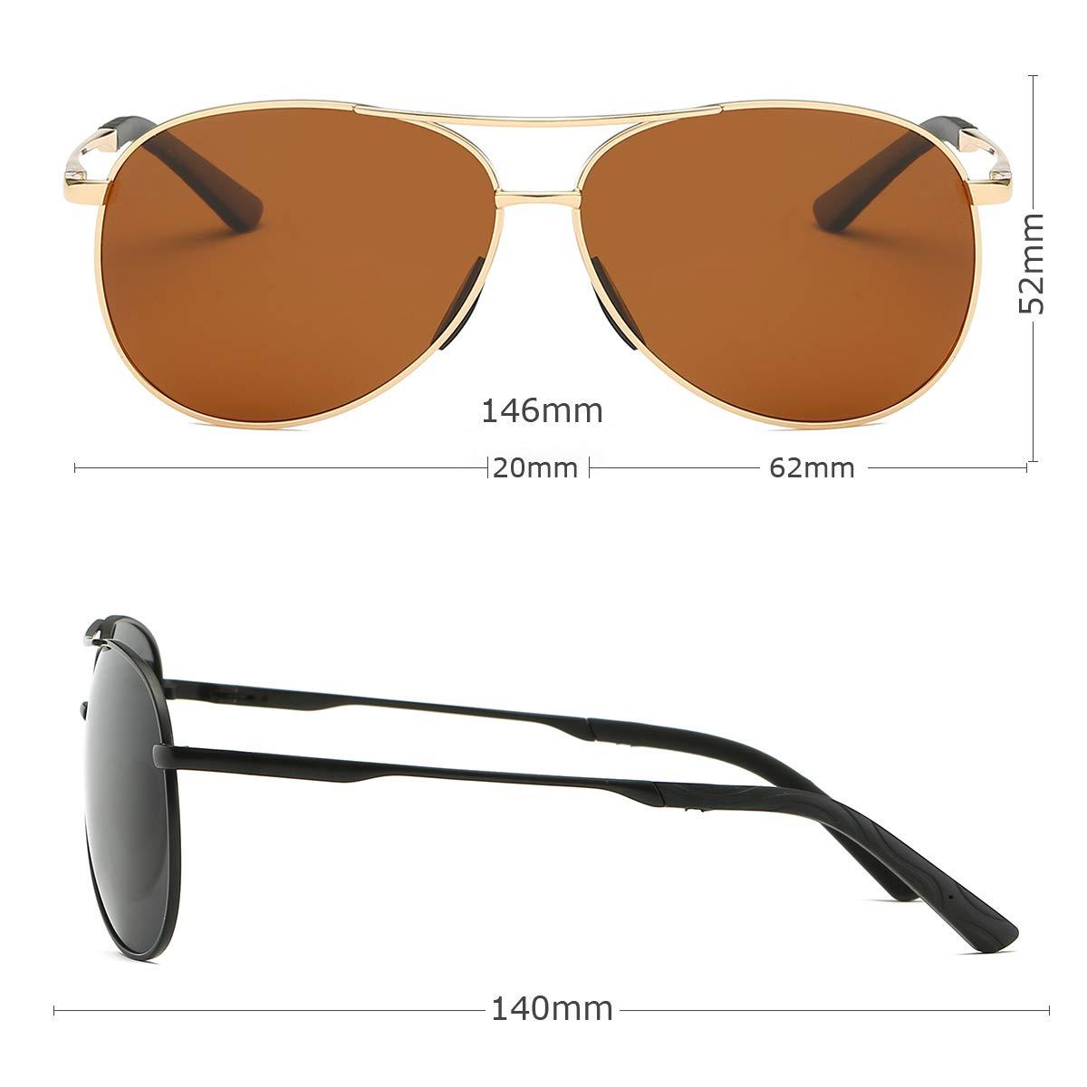 EOSNEIK Sonnenbrille Herren Pilotenbrille Polarisiert Pilotenbrille Polarisierte Sonnenbrille Herren Pilot Unisex UV400 Schutz durch