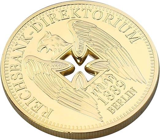 Amosfun Monedas conmemorativas chapadas en Oro del Banco Imperial ...
